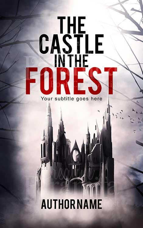 fantasy castle premade book cover design