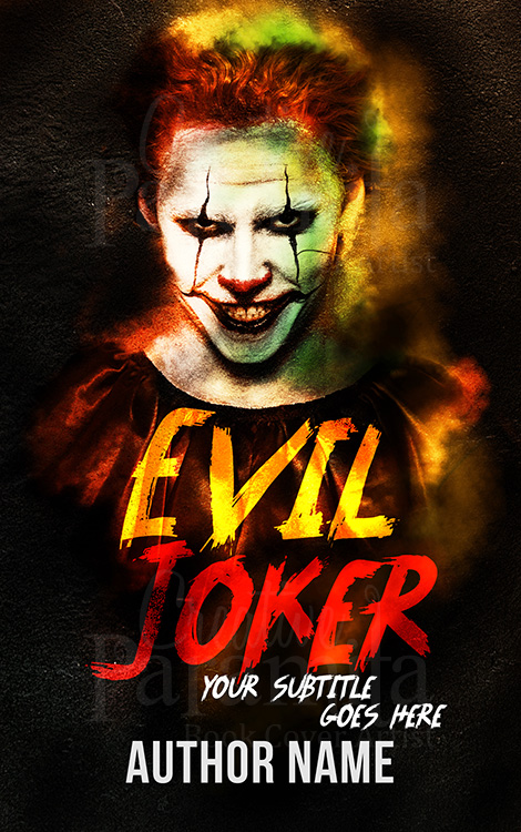 creepy joker book cover design