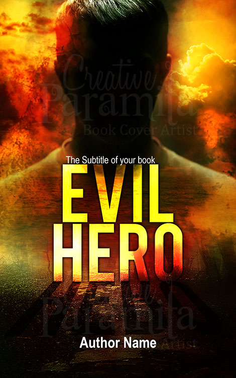 evil hero premade book cover