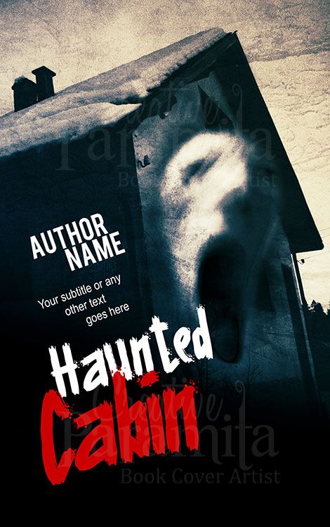 haunted house premade book cover design