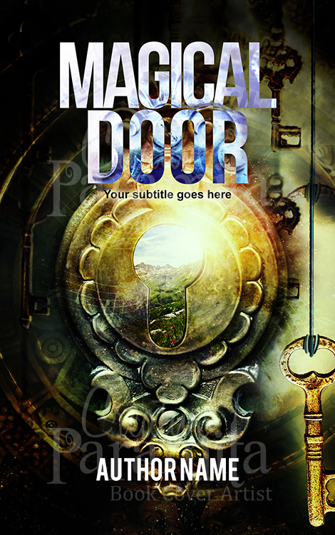 fantasy magic door book cover design