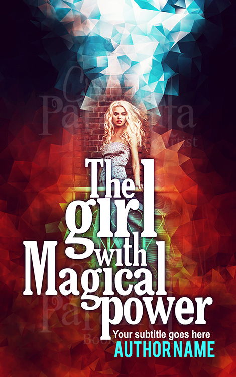 witch magical book cover design