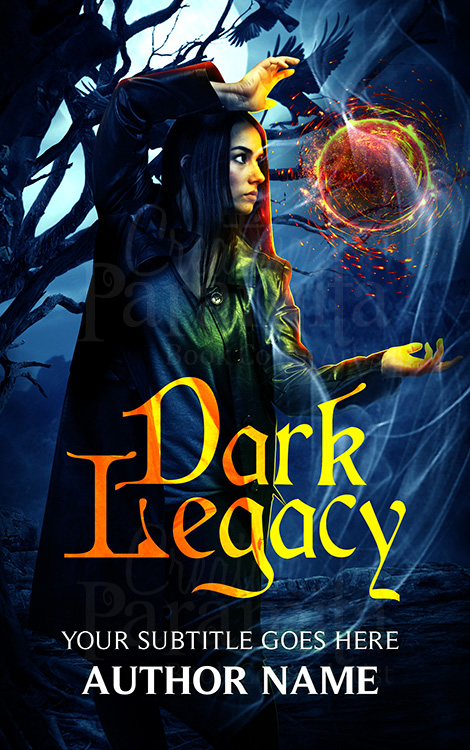 fantasy fireball premade book cover design