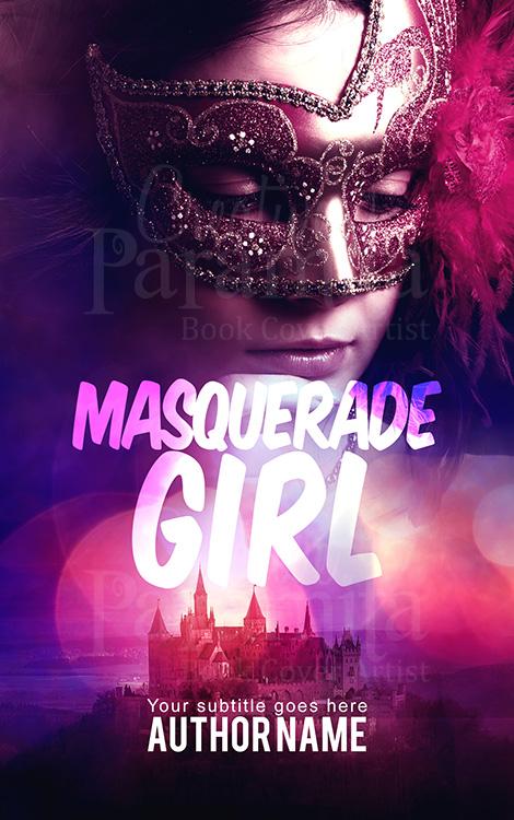 Masquerade romance premade book cover design