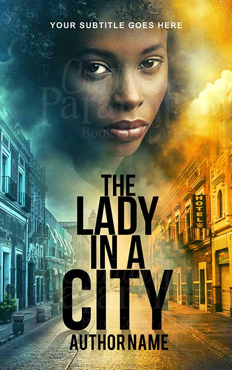 lady in a city