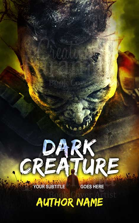 horror zombie book cover design