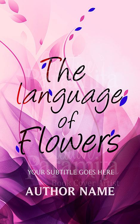 flower premade book cover design