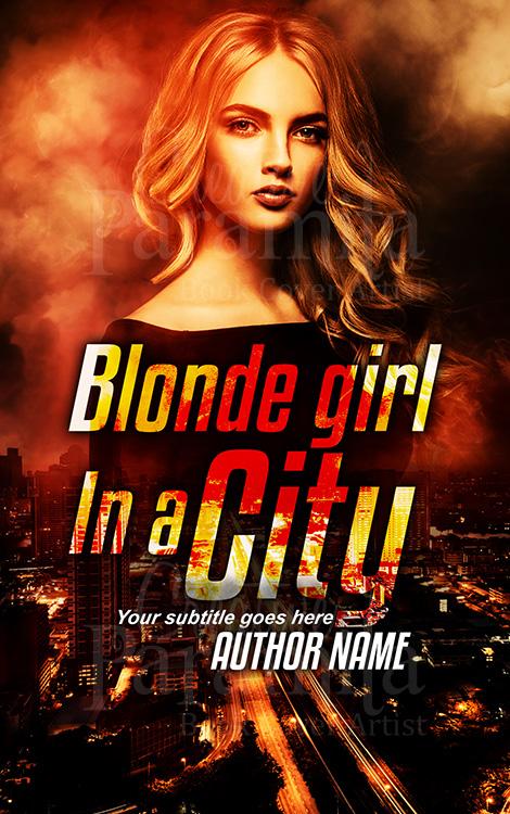 city girl thriller premade book cover design