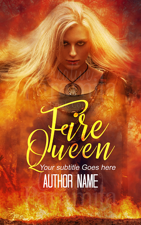 fire lady ebook premade cover