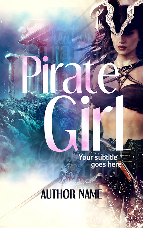 pirate premade book cover design