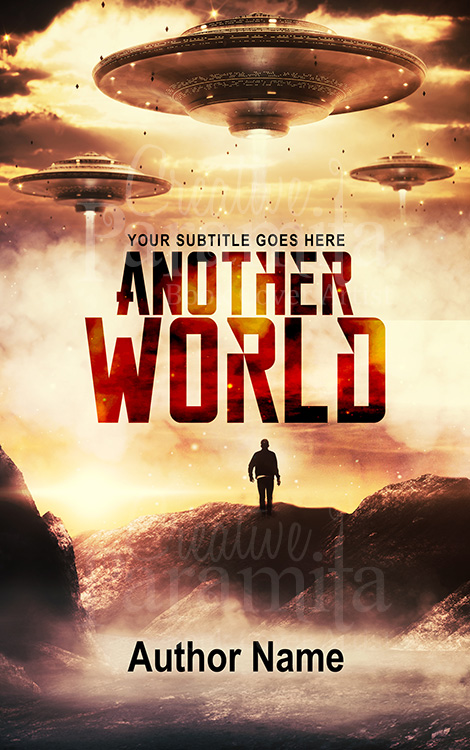 scifi book cover design for sale