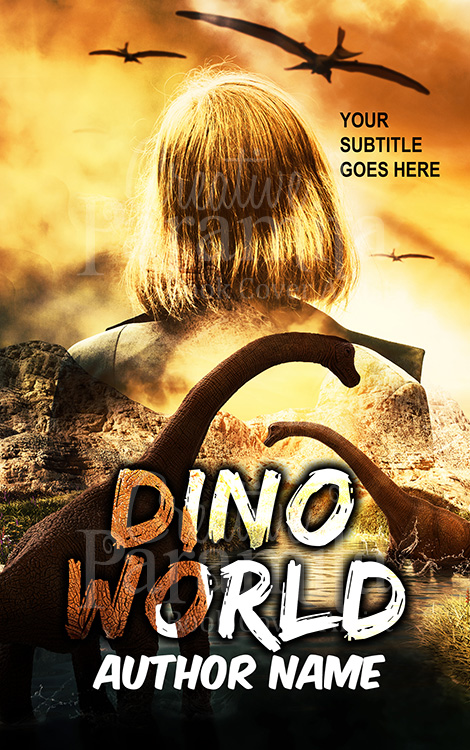 dinosaur premade eBook cover design