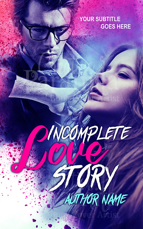 romance couple premade book cover