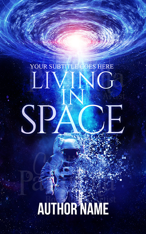 scifi space premade book cover