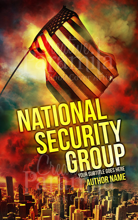 national security thriller book cover design