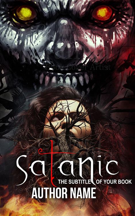 Satan horror book cover design