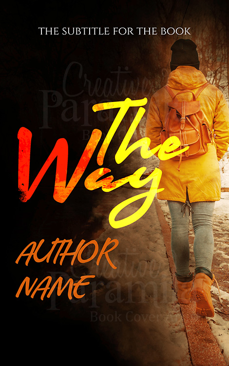 lady walking away premade eBook cover design