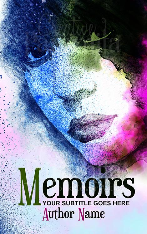 memoir drama premade book cover