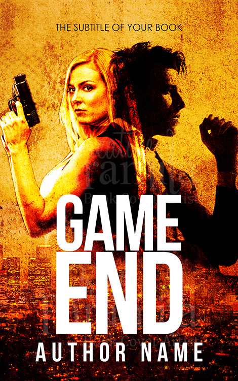 action thriller premade book cover