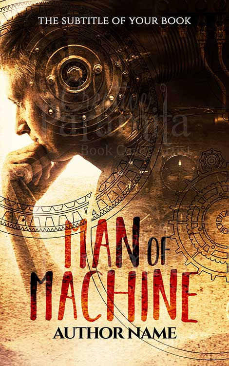 scifi steampunk premade book cover