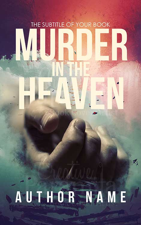 Murder mystery thriller premade book cover