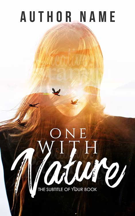 girl nature book cover design