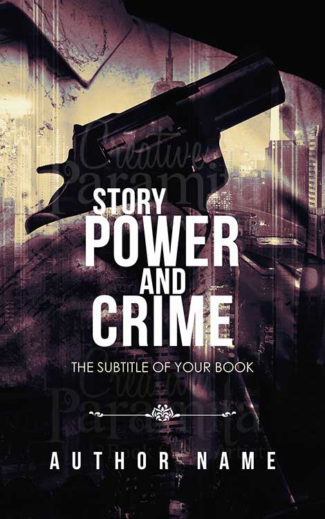 crime thriller premade eBook cover design