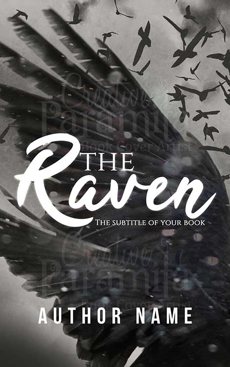 horror raven premade book cover design