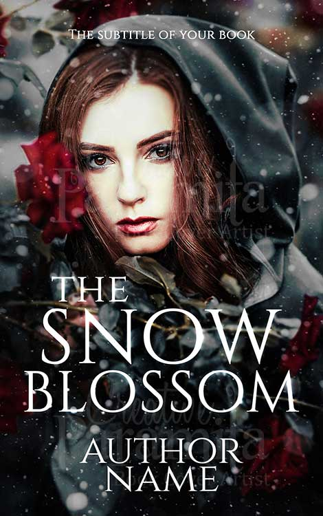 Romance fantasy girl premade book cover