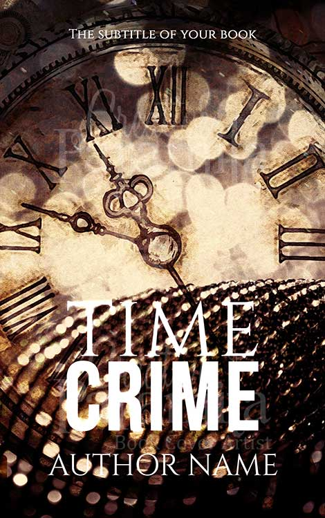 time travel crime thriller premade book cover design