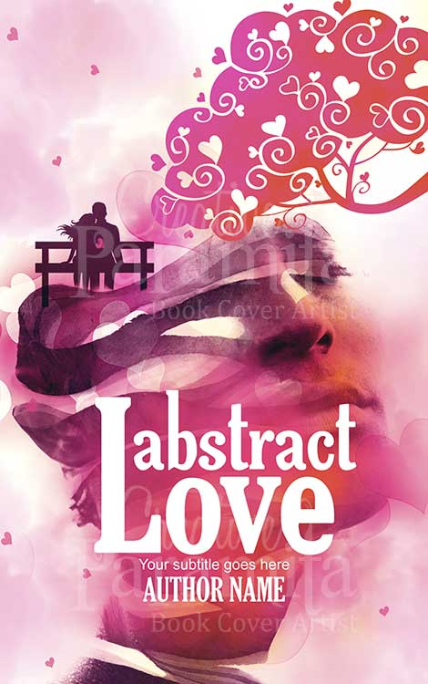 abstract romance book cover design