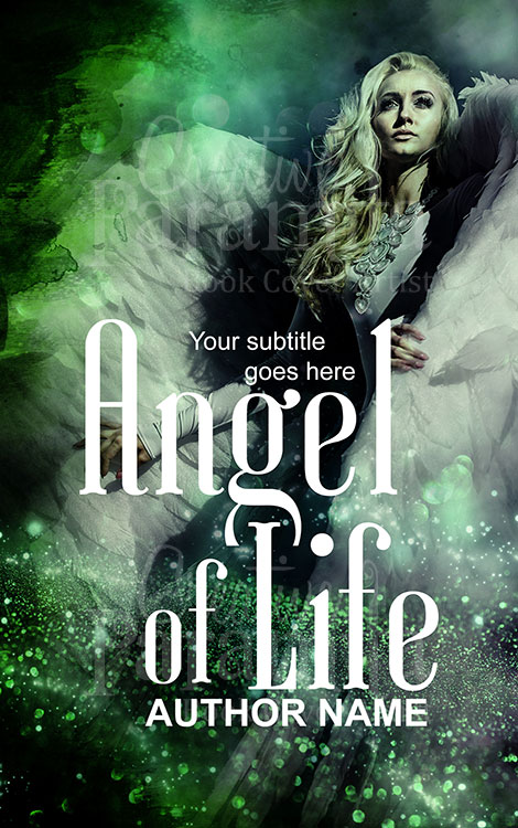 green fairy premade book cover