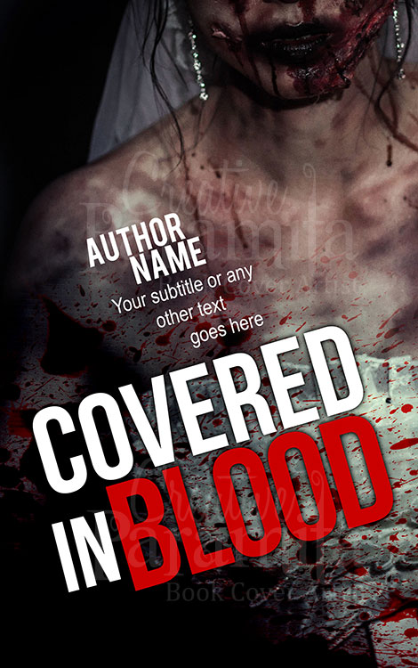 murder thriller premade book cover