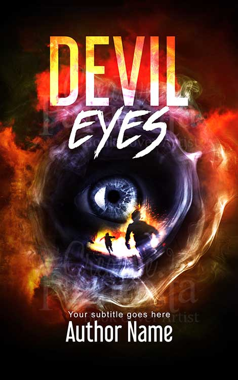devil eyes premade book design