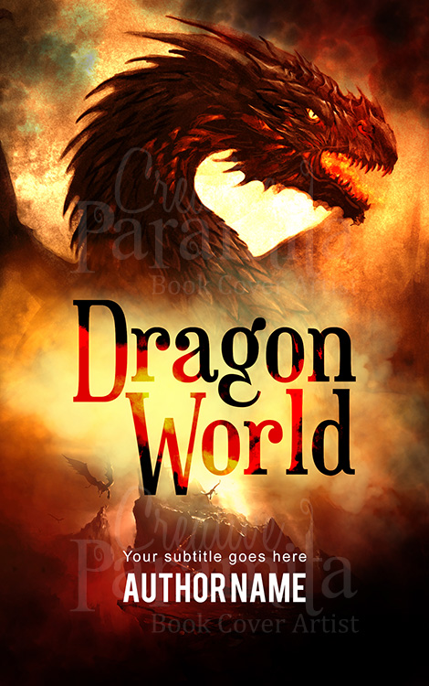 dragon fantasy premade book cover