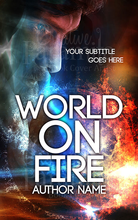 fire world book cover design