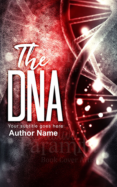 Scifi DNA premade book cover for sale