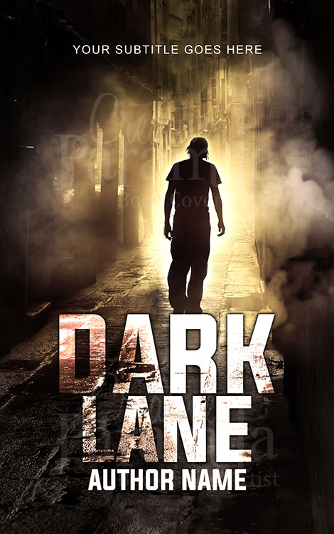man walking on dark lane eBook cover design