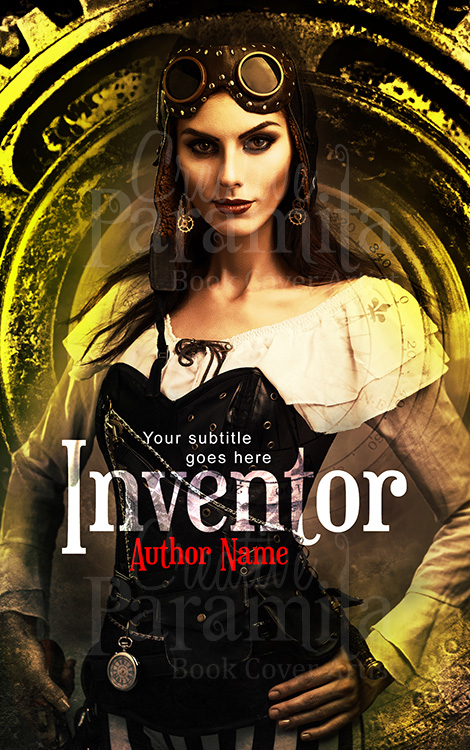 steampunk lady premade book cover design