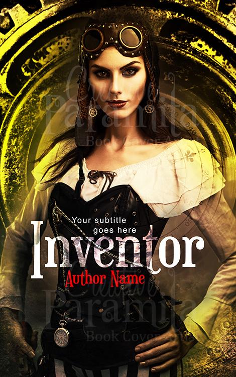 steampunk lady premade book cover design