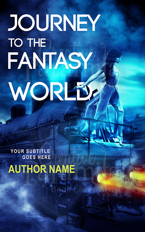 fantasy train book cover design