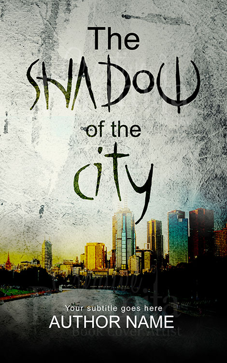 thriller city book cover design