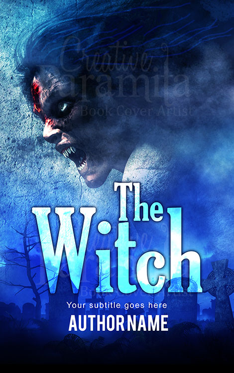 witch horror book cover design