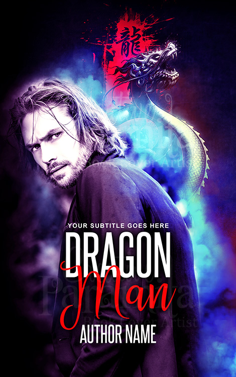 man and dragon book cover design