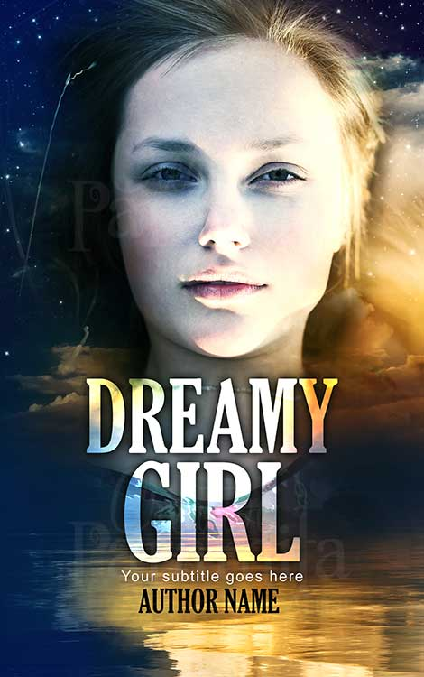 girl in a night sky book cover design