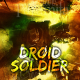 scifi robot soldier book cover