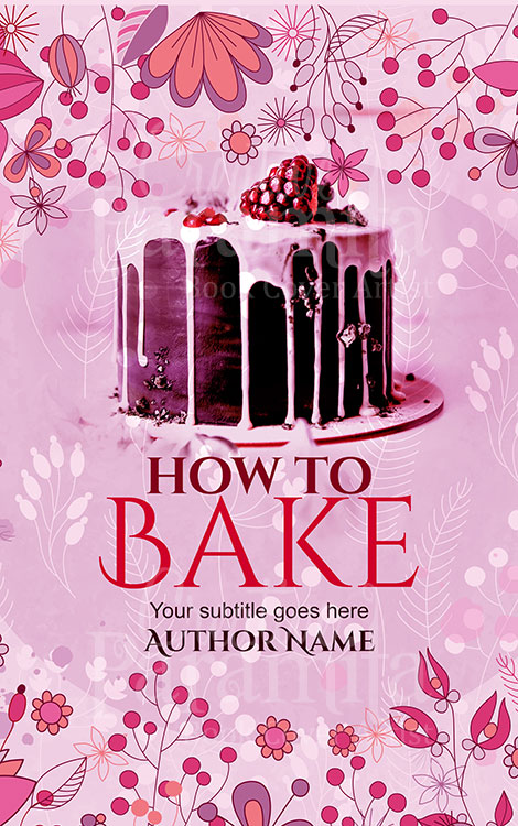 non fiction cooking bake book cover design