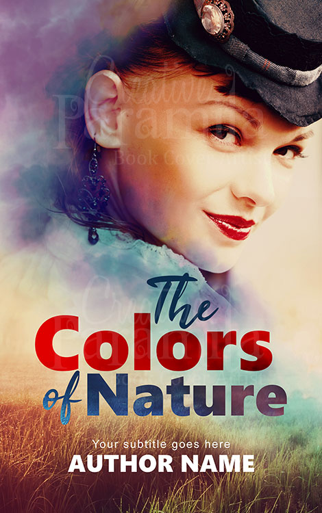 girl nature premade book cover