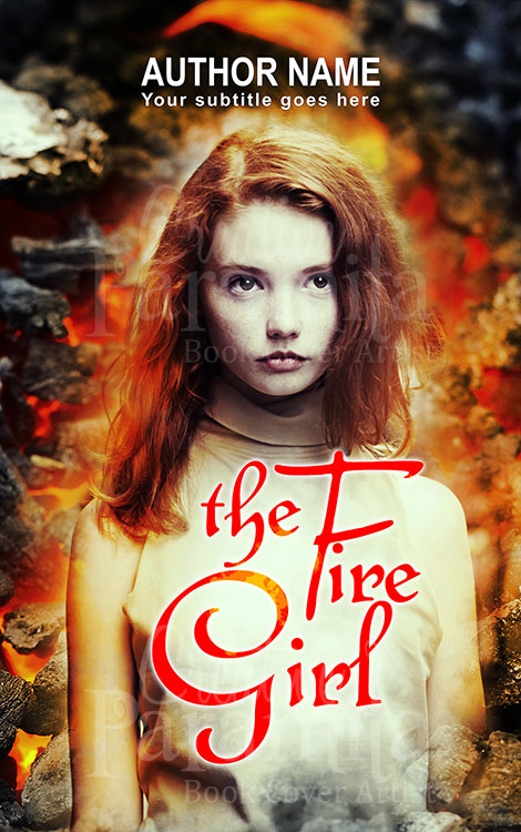 fantasy girl and fire book cover