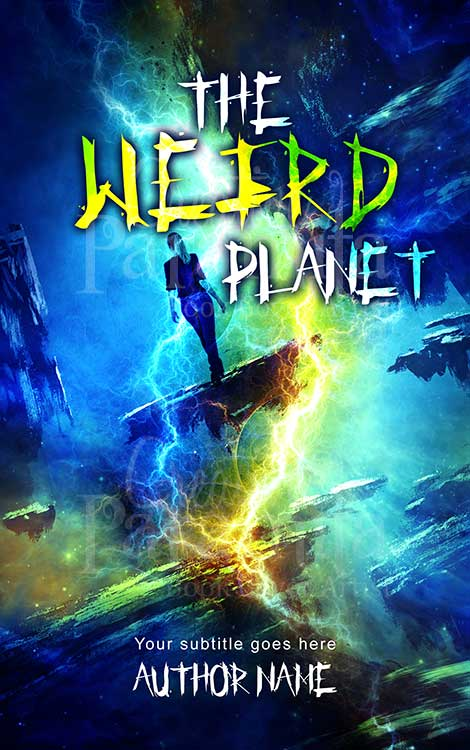 scifi flying planet book cover